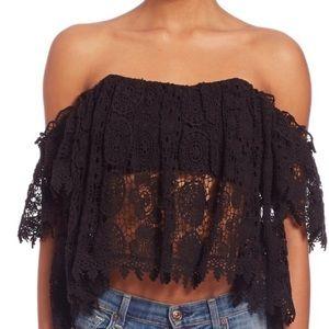 Tularosa Amelia off should crochet top